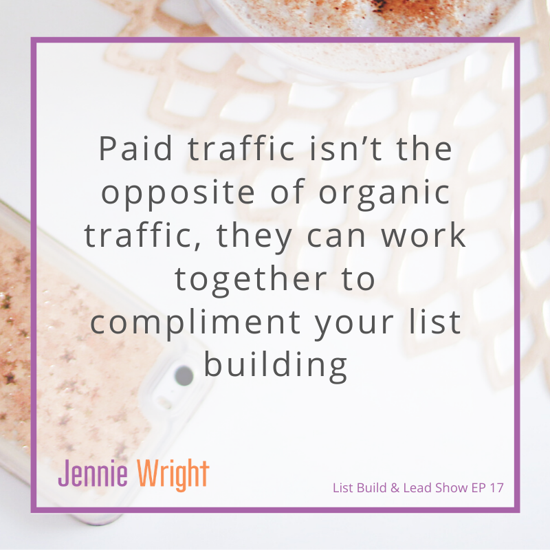 How Paid Ads Can be an Effective Part of Your Organic List Build Strategy. [Episode 17 of List Build & Lead]
